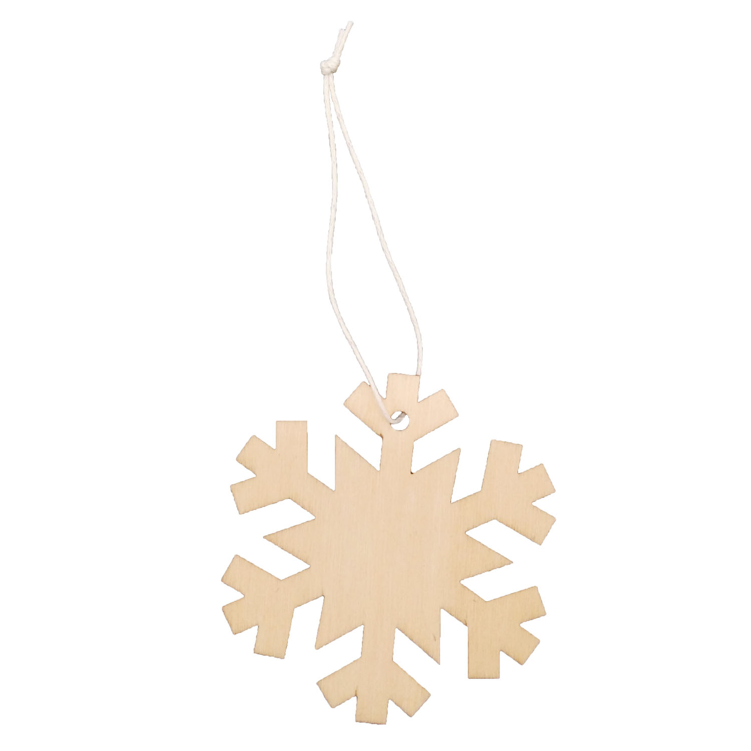 GL-AAA1246 Hanging Wooden Snowflake for Decoration