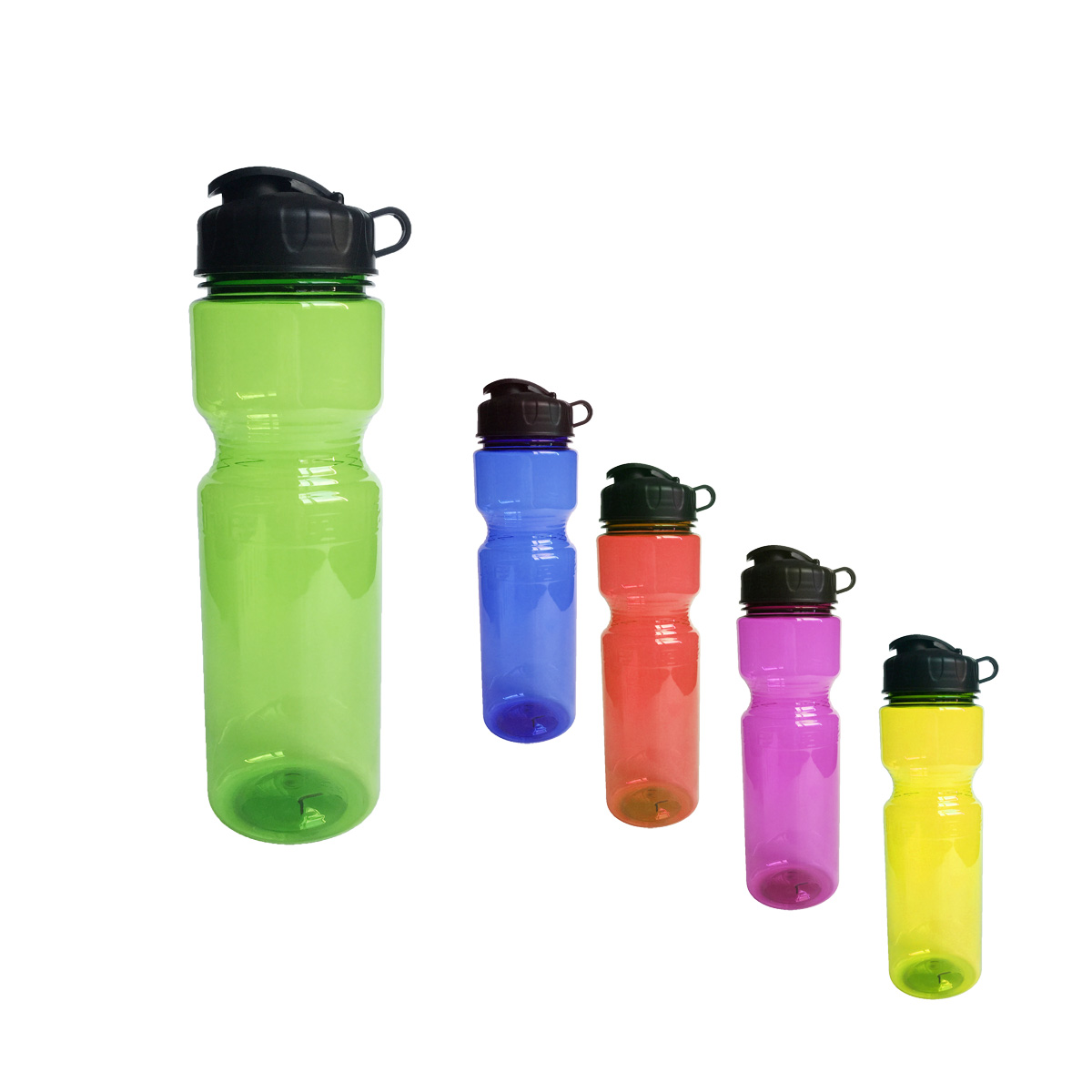 GL-AAA1299 25oz Plastic Clear Bottle with Super Sipper Lid BPA Free