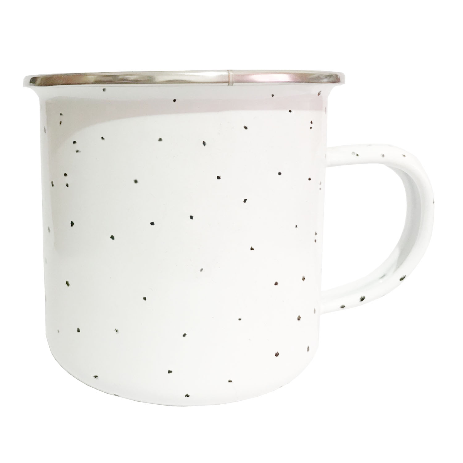 GL-AAA1336 12oz White Enamel Mug with Speckles