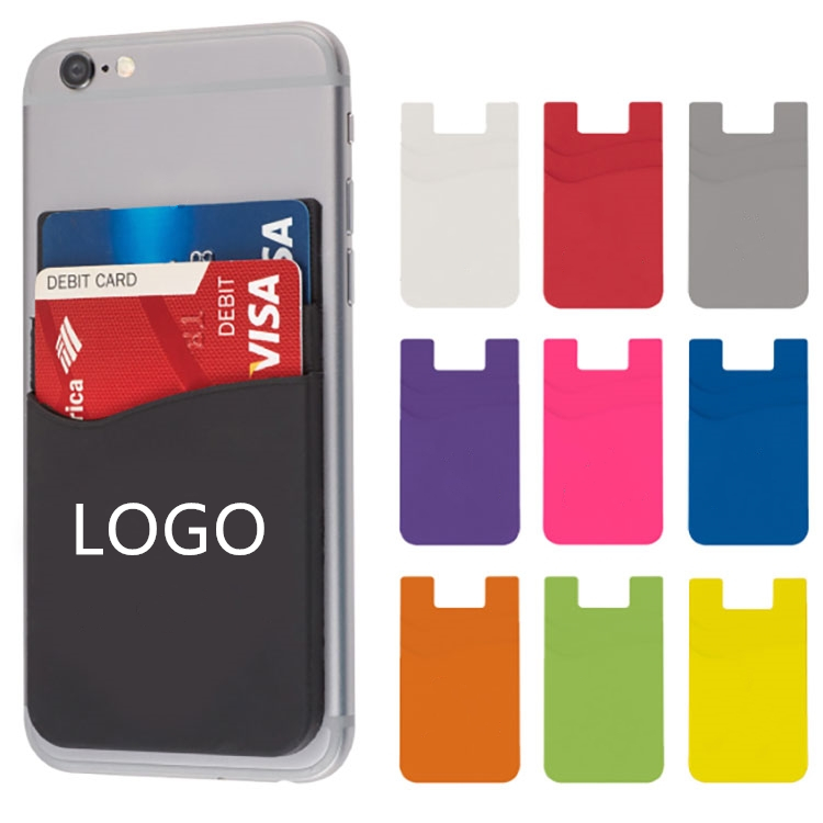 GL-KVL1004 Dual Pocket Silicone Phone Wallet for 2 Cards