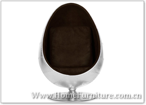Aluminum oval egg chair