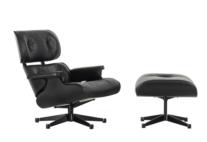 Eames Lounger chair full black